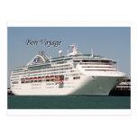 Buen viaje: barco de cruceros 2 postal