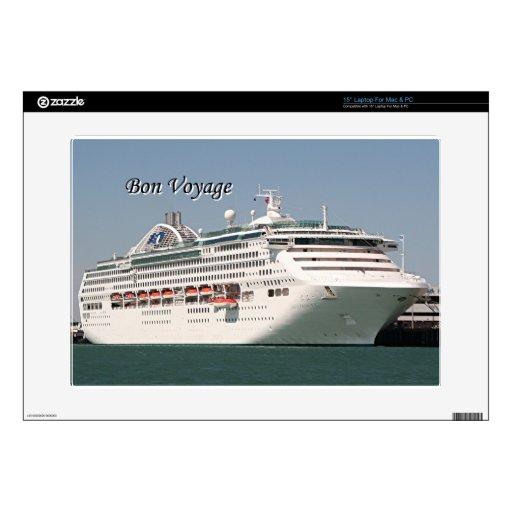 Buen viaje: barco de cruceros 2 calcomanías para portátiles