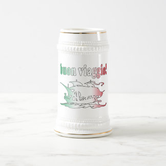 Buen viaje de Buon Viaggio en viaje italiano de Jarra De Cerveza