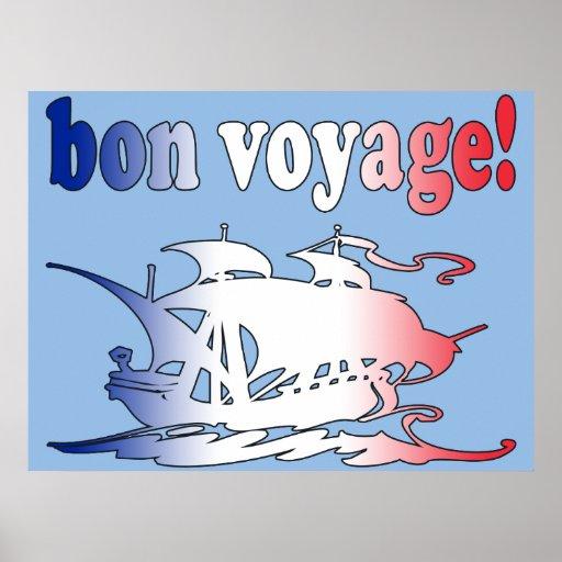 Buen viaje del buen viaje en viaje francés de las  posters