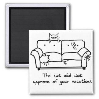 Buen viaje del gato - regalo divertido del gato imán cuadrado