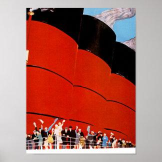 Buen viaje del revestimiento marino posters