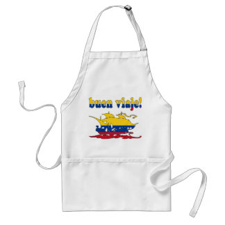 Buen Viaje - Good Trip in Colombian - Vacations Adult Apron