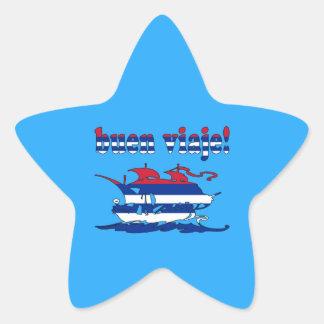 Buen Viaje - Good Trip in Cuban - Vacations Star Sticker