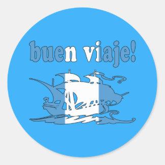 Buen Viaje - Good Trip in Guatemalan - Vacations Classic Round Sticker