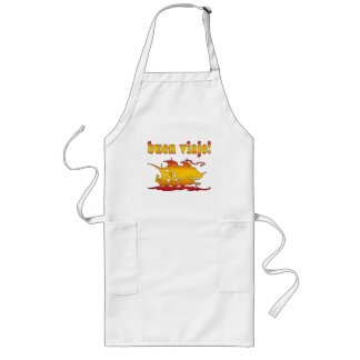 Buen Viaje Good Trip in Spanish Vacations Travel Long Apron