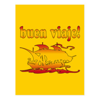Buen Viaje Good Trip in Spanish Vacations Travel Postcard