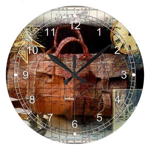 Buen viaje reloj redondo grande