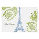 Buen viaje, tarjeta de felicitación de Eiffel