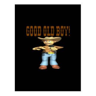 Buen viejo muchacho tarjeta postal
