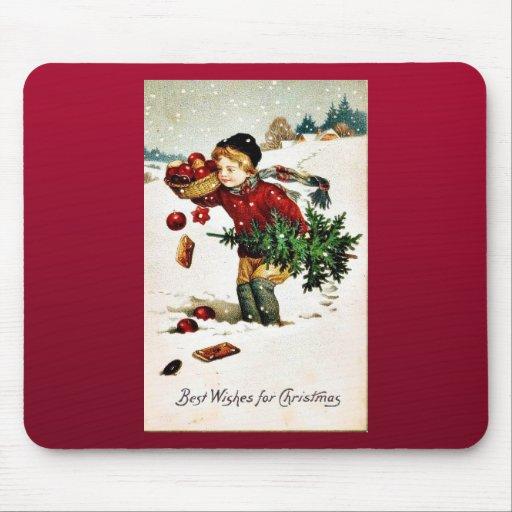 Buen viejo navidad alfombrillas de ratones