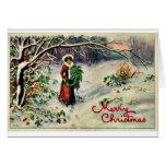 Buen viejo navidad felicitacion