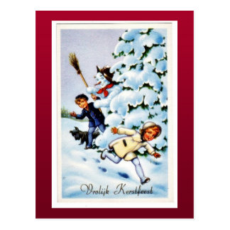 Buen viejo navidad postal