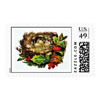 Buen viejo navidad sello postal