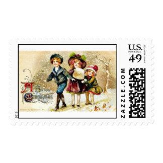 Buen viejo navidad sellos