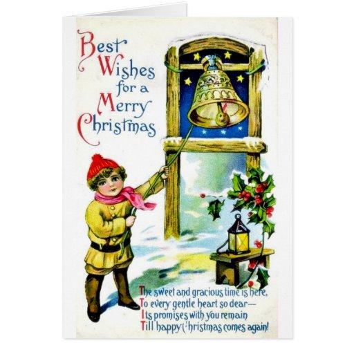 Buen viejo navidad tarjeta de felicitación