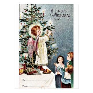 Buen viejo navidad tarjeta postal
