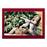 Buen viejo navidad tarjetas