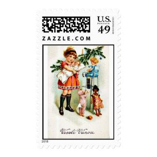 Buen viejo navidad timbre postal