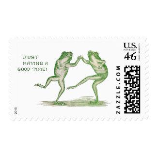 Buen vintage de la danza de las ranas del tiempo