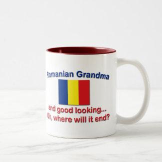 Buena abuela del rumano de Lkg Taza De Café De Dos Colores