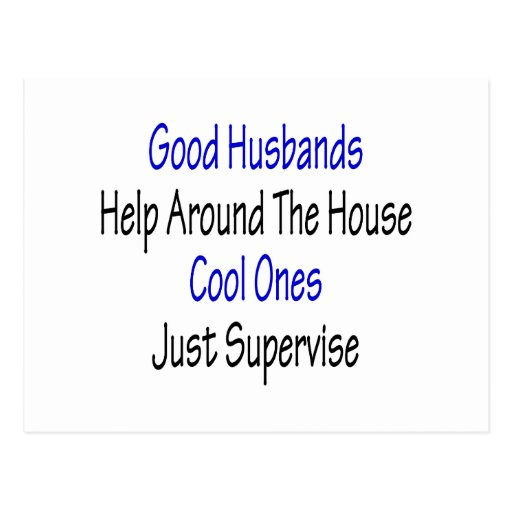 Buena ayuda de los maridos alrededor de la casa postal