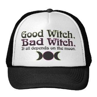 """Buena bruja, casquillos de la mala bruja… "" Gorros"