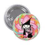 buena bruja con el botón sagrado de la geometría pin