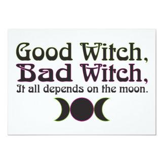 """""""Buena bruja, invitaciones de la mala bruja… """" Invitación 12,7 X 17,8 Cm"""