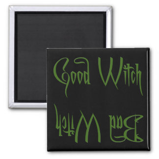Buena bruja/mala bruja imán de frigorifico