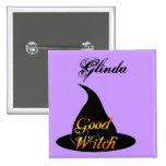 Buena bruja Personalizable Halloween que dice el b Pin