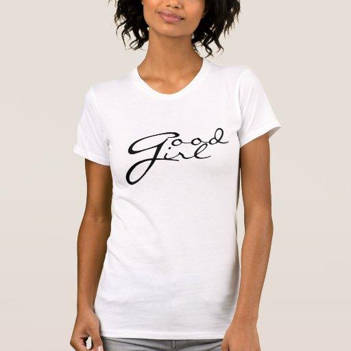 Buena camiseta del chica