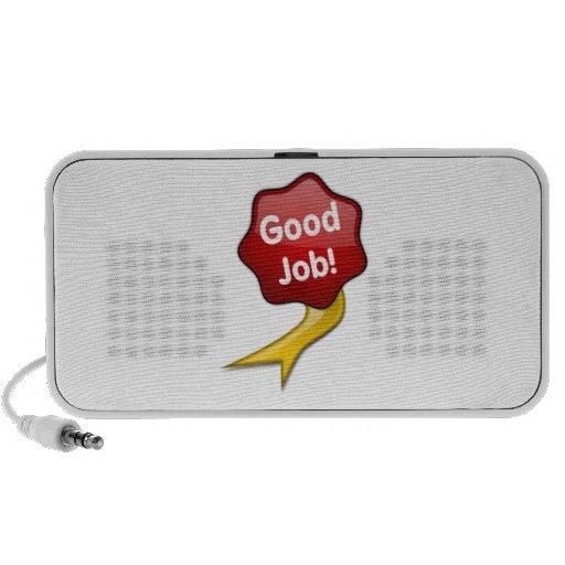 Buena cinta roja del trabajo mp3 altavoces