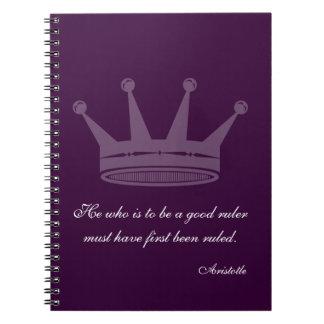 Buena cita de la regla - cuadernos de Aristóteles