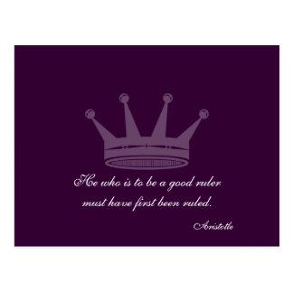 Buena cita de la regla - postales de Aristóteles