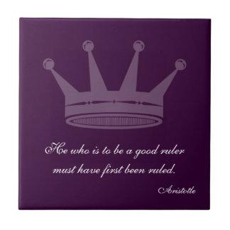 Buena cita de la regla - tejas de Aristóteles