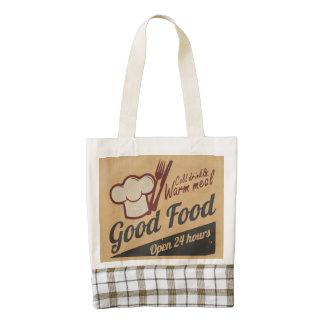 Buena comida bolsa tote zazzle HEART