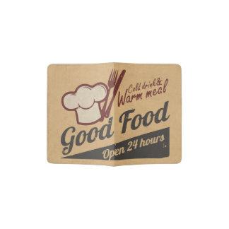 Buena comida porta pasaporte