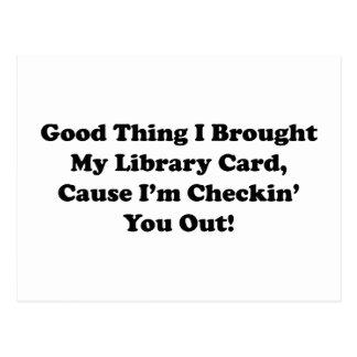 Buena cosa traje mi tarjeta de biblioteca postal