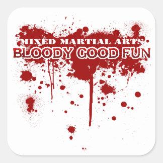 Buena diversión sangrienta pegatina cuadrada