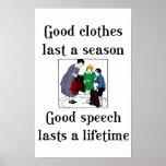 Buena escuela de la ropa del buen discurso que dic