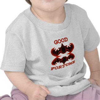 Buena fortuna 1 de los palos los regalos de Zazzle Camiseta