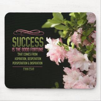 Buena fortuna Mousepad de motivación del éxito