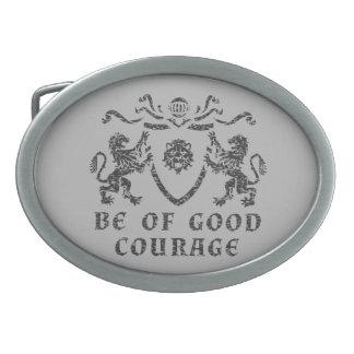 Buena hebilla del cinturón del blasón del valor hebillas cinturon ovales