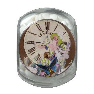Buena hora de beber el collage del vintage jarrones cristal