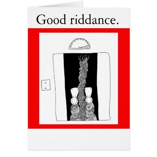 Buena liberación tarjeta de felicitación