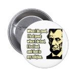 Buena mala cita de la religión de Lincoln Pins