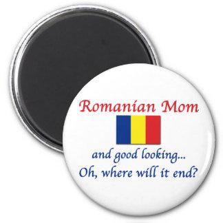 Buena mamá del rumano de Lkg Imán Redondo 5 Cm