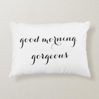 """""""Buena mañana,"""" almohada decorativa magnífica Cojín"""