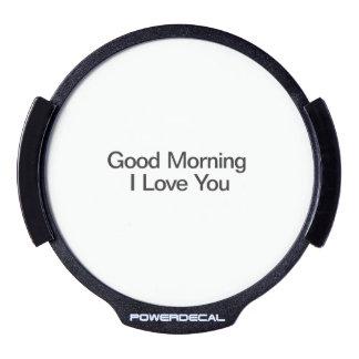 Buena mañana amo You.ai Sticker LED Para Ventana
